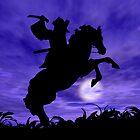Samurai on Horse by Okeesworld