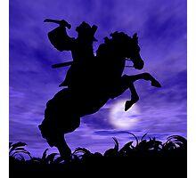 Samurai on Horse Photographic Print