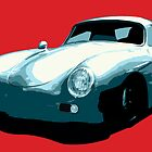 Porsche 356 pop art by Neroli Henderson