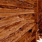 Old Wooden Wall by Leif Holmberg