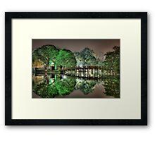 Huan Kiem Lake - Vietnam Framed Print