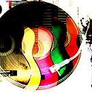 Guitars, Record, Mic Collage by CSDesigns