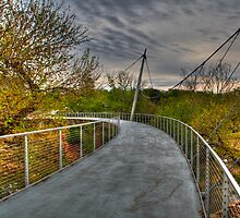 1945 - Alone on Liberty Bridge by Ray Mosteller
