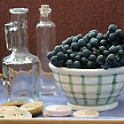 Grapes and Glass by Brenda Dow