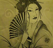 Geisha Girl Tattoo Design by butterflyashes