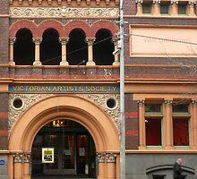 Victorian Artist's Society facade by Roz McQuillan