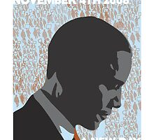 Barack Obama 'A New Day' - Unique Art Print by pushcartdesign