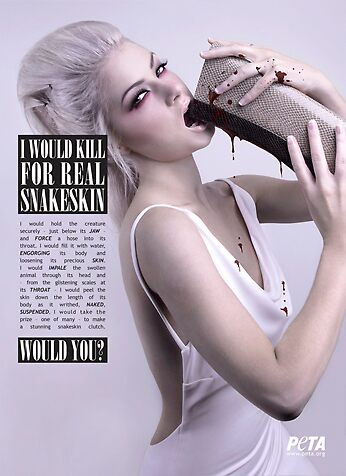 PETA - Would you? .Snakeskin. by Otilee