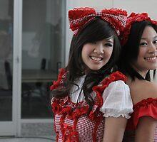 Two Kawaii Ladies by Okeesworld