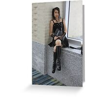 Misa:  Don't Anger the Keeper of the notebook. Greeting Card