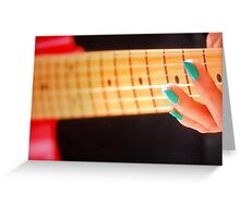 Strumming the Blues Greeting Card