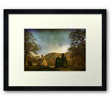 The Kirk by the Hill Framed Print