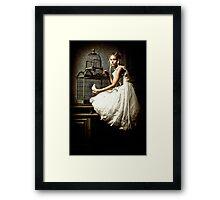 WHITE DOVE Framed Print