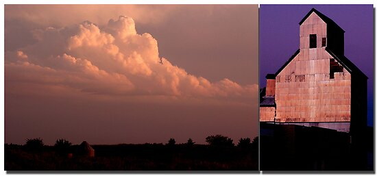 Clouds and Silo  Oklahoma by ChrisBaker