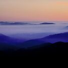 Sunrise from Bogong High Plains, Alpine NP, Victoria, Australia. by Ern Mainka