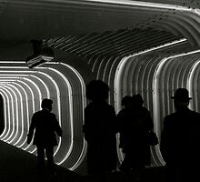 Tunnel to the subway, NYC by RonnieGinnever