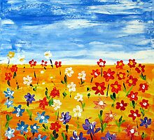 Wildflowers I by Wendy Eriksson
