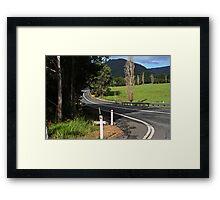 Left Turn .... To The Highway Framed Print