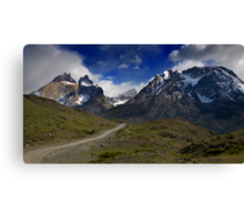 Road to Torres del Paine Canvas Print
