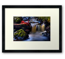 West Highland Burn in Autumn. Scotland. Framed Print