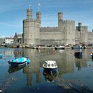 Caernarfon Castle - North Wales - UK by Michael Tapping