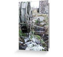 icicles, waterwheel Greeting Card