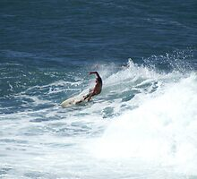 Surfing in Maui #1 by Brett Jones