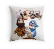 ...and a King was born.... Throw Pillow