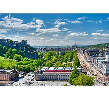 Edinburgh Castle View: Capital City of Scotland Photographic Print