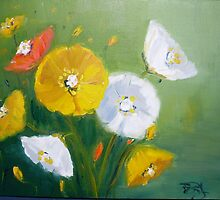 Poppies by Beverley  Johnston