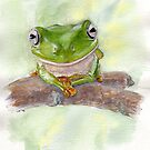Green Tree Frog,  Mista Smiley by melhillswildart
