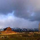 Moulton Barn, Mormon Row - Teton Sunrise - Wide by Stephen Beattie