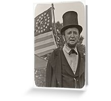 President Abraham Lincoln - 1865 Greeting Card