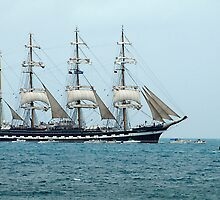 Tall Ships Atlantic Challenge 2009 - Kruzenshtern by triciamary