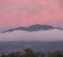 Cloud hugging the hills after rain by naphtali