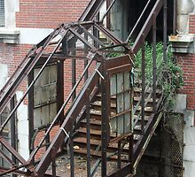 Rusty Staircase going Nowhere by Deborah  Allen