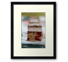 Cherry & Toasted Almond Slice. Framed Print