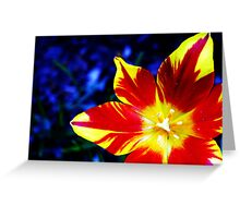Multiple Personality Flower Greeting Card