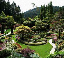 Butchart Gardens in Spring by AnnDixon