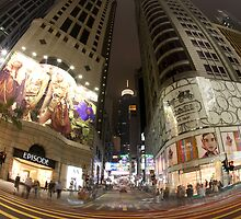 Hong Kong, Central at Night by Vincci Ching