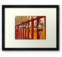 Temple fence Framed Print