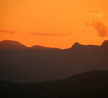 The Lake District: Sunset Over The Langdales by Rob Parsons