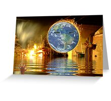 Tear's from the Earth. Greeting Card