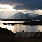 Isle of Skye from Coillegillie, Applecross Peninsula, Scotland. by photosecosse /barbara jones