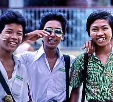 Before the crackdown. Rangoon, 1984. by John Spies
