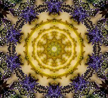 Golden mandala. by Marilyn Baldey