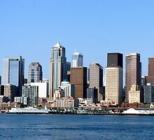 Seattle Skyline Fourteen by Rick Lawler