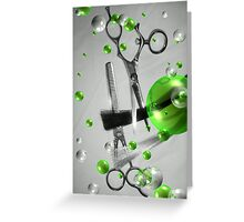 Shear Texture Lime Greeting Card