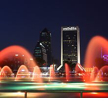 Friendship Fountain, Jacksonville Florida  by Joe Norman
