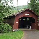 Drift Creek Covered Bridge by Christopher  Boswell